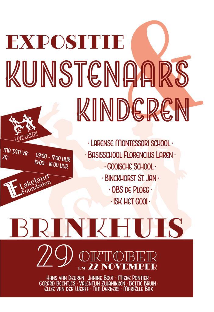 Flyer Expositie Kunstenaars en Kinderen - Brinkhuis Laren