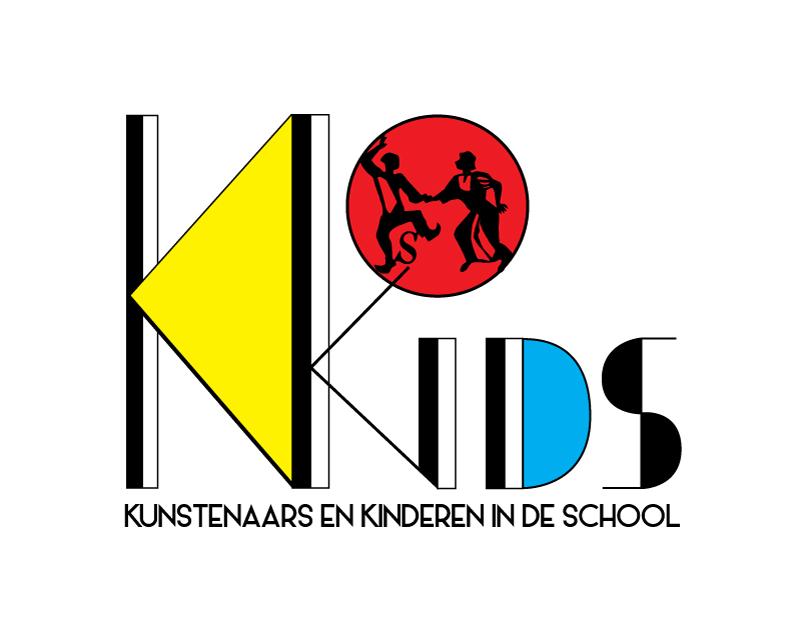 Kunstenaars en kinderen in de school